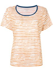 Majestic Filatures Painted Stripe T Shirt Orange