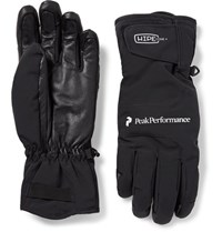 Peak Performance Chute Leather Panelled Hipe Core Ski Gloves Black