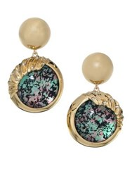 Alexis Bittar Lucite Sculptural Sphere Dangling Drop Earrings Multi