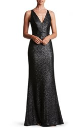 Dress The Population Women's 'Harper' Sequin Mermaid Gown