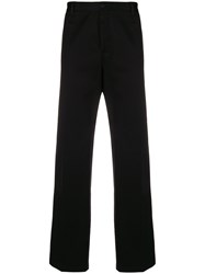 Versace Flared Tailored Trousers Black