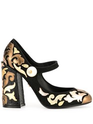 Dolce And Gabbana Chunky Heel Multi Patch Pumps 60