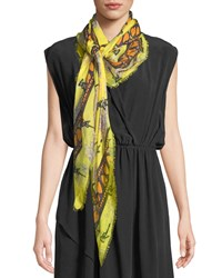 Zadig And Voltaire Kerry Nenuphar Scarf Yellow