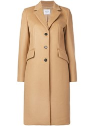 Dondup Classic Single Breasted Coat Brown