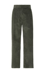 Cacharel Cropped Corduroy Trousers Green