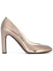 Roberto Del Carlo Round Toe Pumps Metallic