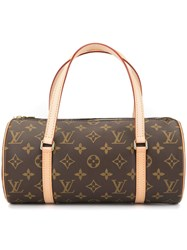 Louis Vuitton Vintage Papillon 26 Hand Bag Brown