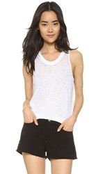 Monrow Baseball Narrow Tank White