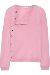 Altuzarra Minamoto Button Detailed Merino Wool Sweater Baby Pink