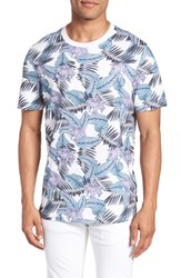 Ted Baker London Slim Fit Tinned Floral Graphic T Shirt White
