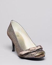 Stuart Weitzman Peep Toe Evening Pumps Bowover