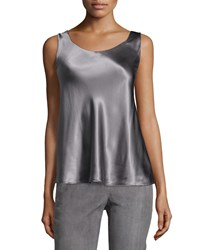 Lafayette 148 New York Sleeveless Silk Round Neck Camisole Rock Women's