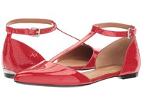 Calvin Klein Ghita Lipstick Red Patent Women's Dress Flat Shoes