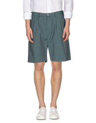 M.Grifoni Denim Trousers Bermuda Shorts Men Deep Jade
