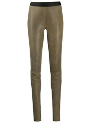 Ann Demeulemeester Pull On Trousers Brown