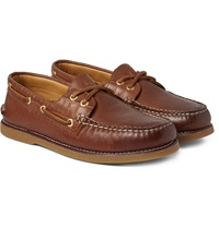 Sperry Gold Cup Croc Effect Leather Boat Shoes
