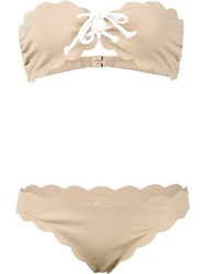 Marysia 'Antibes Strapless Top And Tie Bottom' Bikini Nude Neutrals