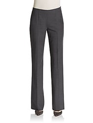 Hugo Boss Tilana Windowpane Flared Trousers Charcoal