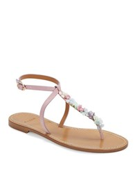 Aerin Calanca Suede Sandals Purple