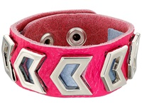 Gypsy Soule Leather Arrow Cutout Bracelet Pink Bracelet
