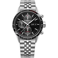 Raymond Weil 7731 St265655 Men's Freelancer Automatic Chronograph Day Date Bracelet Strap Watch Silver Black