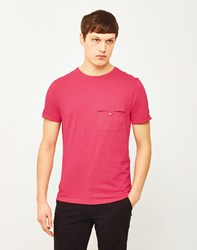 The Idle Man Button Pocket T Shirt Pink