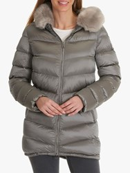 Betty Barclay Quilted Jacket Silver Stone