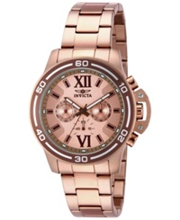 Invicta Men's Chronograph Specialty Diver Rose Gold Tone Stainless Steel Bracelet Watch 46Mm 15060