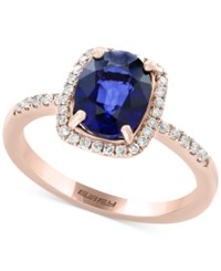 Effy Final Call By Diffused Ceylon Sapphire 1 9 10 Ct. T.W. And Diamond 1 5 Ct. T.W. Ring In 14K Rose Gold