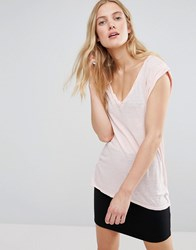 Pam And Gela V Neck Muscle Tee Pink