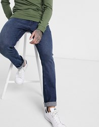 Ben Sherman Slim Fit Jeans In Dark Wash Blue