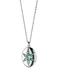 Monica Rich Kosann Blue Topaz And White Sapphire Locket Necklace 32