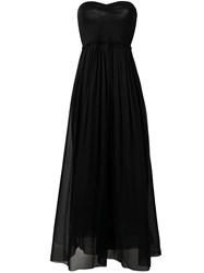 Forte Forte Strapless Flared Dress Black