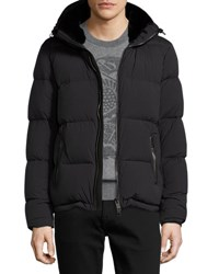 Burberry Quilted Down Coat W Mink Fur Lining Black