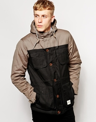 Wemoto Mountain Parka With Colour Block Oliveblack