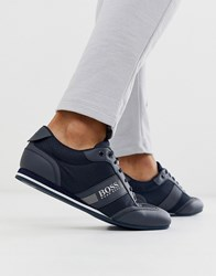Boss Lighter Low Nylon Trainers In Navy