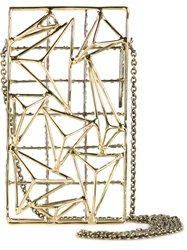 Anndra Neen 'Pyramid' Iphone Case Metallic