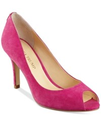 Ivanka Trump Cleo Pumps Women's Shoes Fuschia Pink Suede