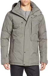 Men's Nau 'Blazing' Waterproof Down And Feather Jacket With Removable Hood Cape Heather