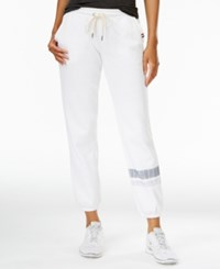 Tommy Hilfiger Sport Striped Drawstring Sweatpants Only At Macy's White