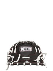 Ktz Contrasting Lacing Leather Baseball Hat