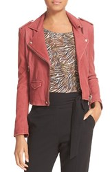 Iro Women's 'Ashville' Leather Jacket Magnolia