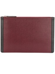 Marni Dual Colour Clutch Bag Men Cotton Leather Polyamide One Size Red