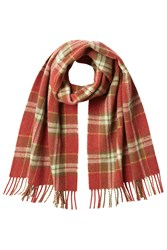 A.P.C. Checked Wool Scarf Red