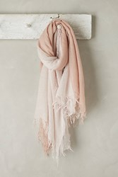 Anthropologie Cashmere Ombre Scarf Peach