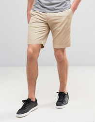 Lacoste Slim Fit Chino Shorts In Beige