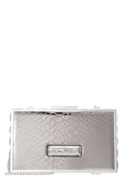 Love Moschino Snake Clutch Fucile Silver