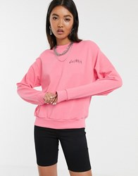 Cheap Monday Get Sweatshirt With Electric Logo Pink