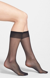 Nordstrom Sheer Knee High Socks Regular And Plus Size Black