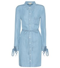 Michael Kors Chambray Shirt Dress Blue